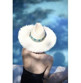 Chapeau Balthazar Turquoise Maradji