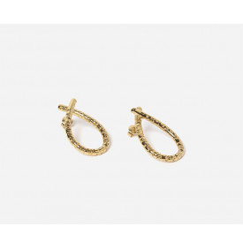 Boucles d'oreilles dorees Lowi Chic...