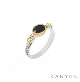 Bague Orphee Onyx Noir Canyon