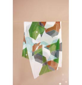 Foulard Kaleidoscope Kaki -...