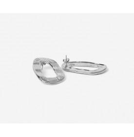 Boucles d'Oreilles Calista Argent -...