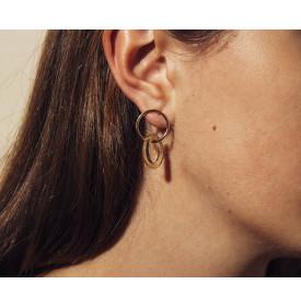 Boucles d'oreilles Pop Jaune...