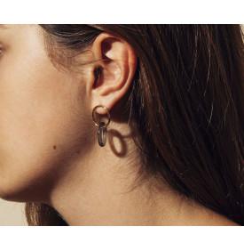 Boucles d'oreilles Pop Gris...