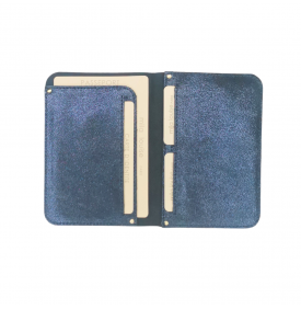 Porte passeport Ory irisé Bleu Prusse...