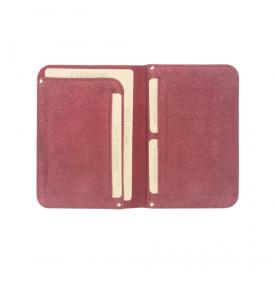 Porte Passeport Ory Cuir Irisé Rouge...