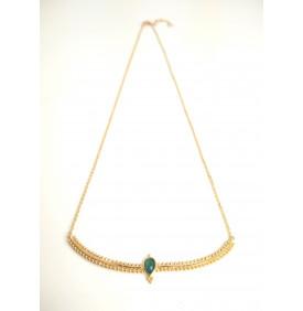 Collier vintage pierre de lune doré