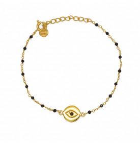 Bracelet Dore Onyx Noire et...