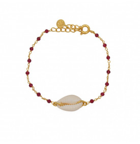 Bracelet Dore Rubis et...