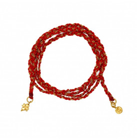 Bracelet Tresse Rouge et...