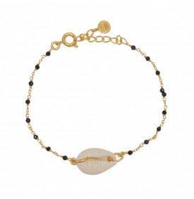 Bracelet Doree Onyx Noire...