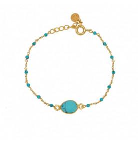 Bracelet Chaine Doree et...