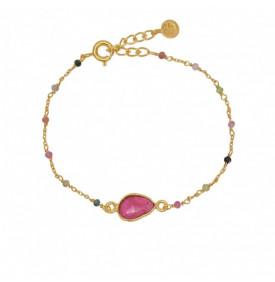Bracelet Dore et Tourmaline...