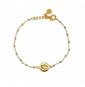 Bracelet Dore Labradorite...