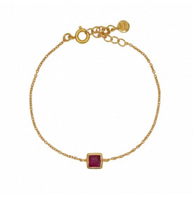 Bracelet Dore et Rubis...
