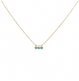 Collier Dore Turquoise...