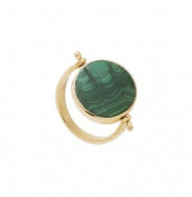 Bague Luck malachite double...