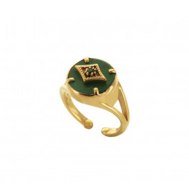 Bague Gayane L malachite...