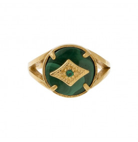 Bague Gayane L malachite Leticia Ponti