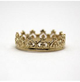 Bague couronne plaquée or