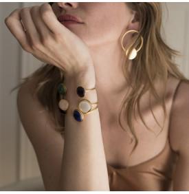 Bracelet Rivoli quartz rose - nacre 4...