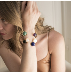 Bracelet Rivoli malachite - améthyste...