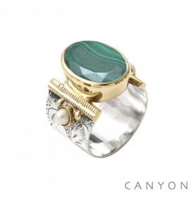 Bague Athéna Malachite Canyon